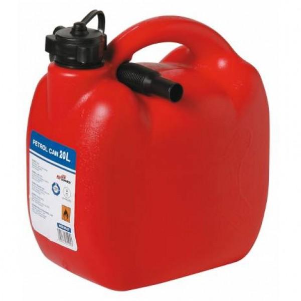Bidón gasolina 20 litros homologado. con tubo flexible