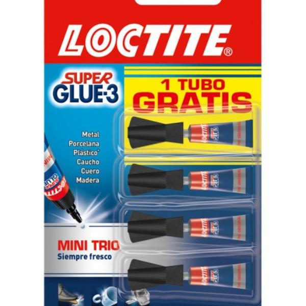 Loctite Super-Glue Mini Trio 3+1