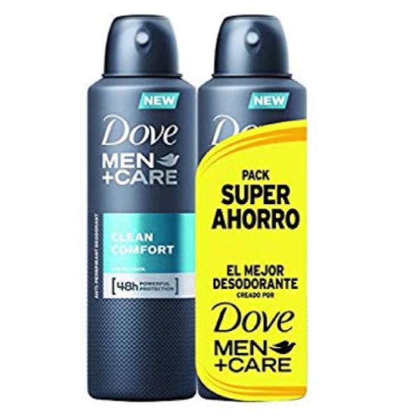 Dove desodorante hombre pack ahorro 200 ml + 200 ml