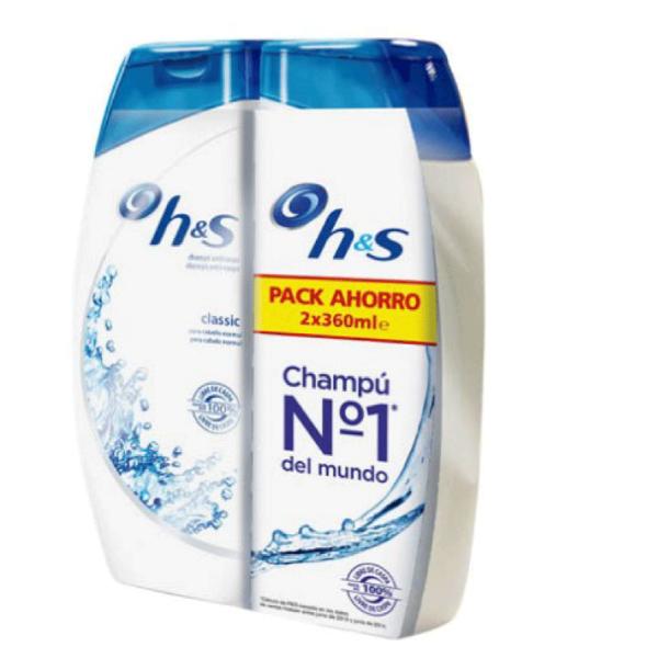 H&S Champú Classic Pack Ahorro 360 ml + 360 ml
