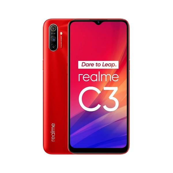 Realme c3 rojo vivo 4g dual sim 6.5'' ips hd+/8core/64gb/3gb ram/12+2+2mp/5mp