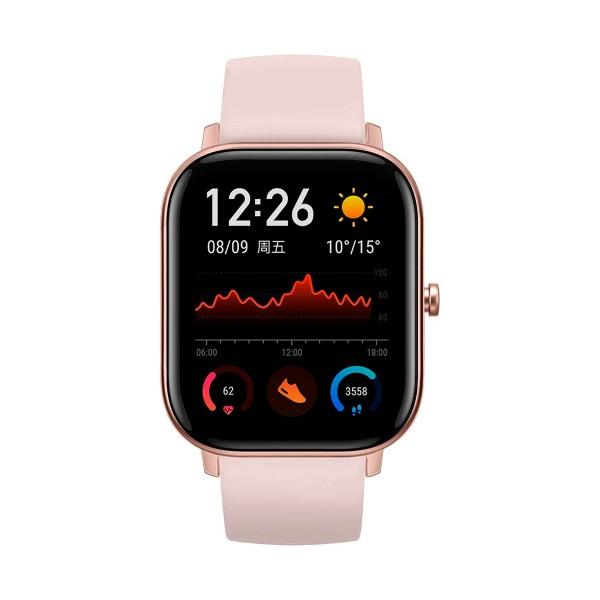 Xiaomi amazfit gts rosa smartwatch 1.65'' amoled gps glonass bluetooth biotracker 5atm