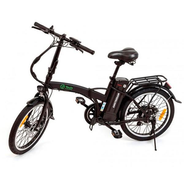 Youin amsterdam bk1000 negro bicicleta eléctrica 250w ruedas 16'' con 40km autonomía 25km/h velocidad