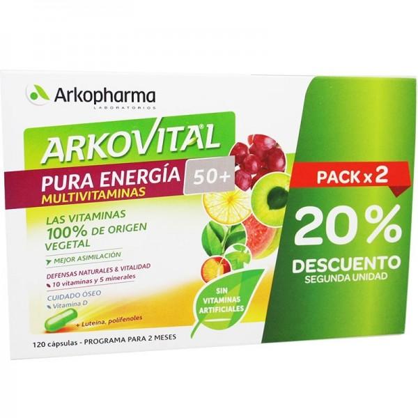 ARKOVITAL PURA ENERGIA +50 2X60 CAPS PROMO