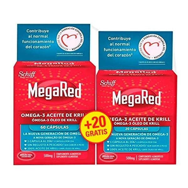 MEGARED OMEGA 3 ACEITE DE KRILL 60+20 CAPS PROMO
