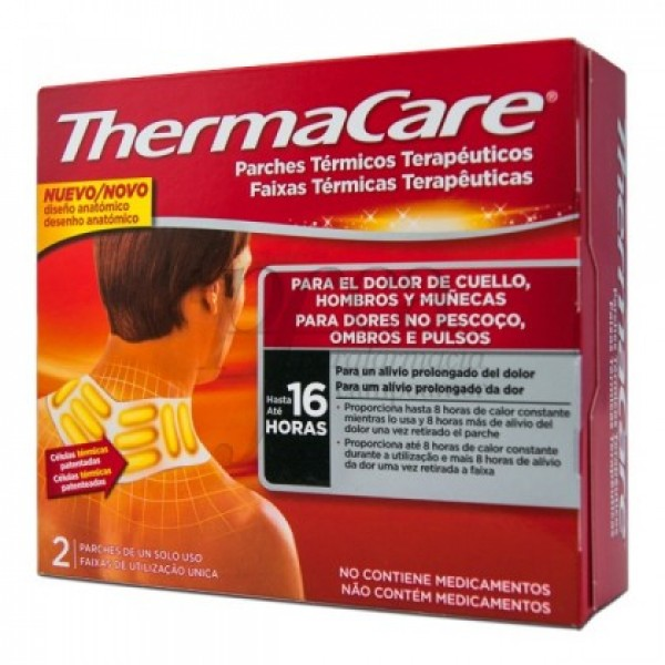 THERMACARE CUELLO-HOMBRO 2 PARCHES TERM
